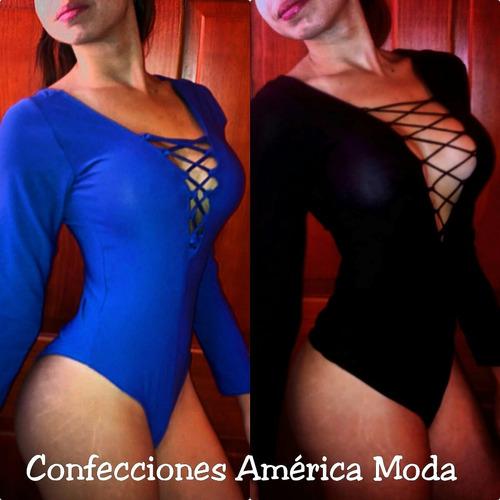 blusa body trenzado con mangas moldea