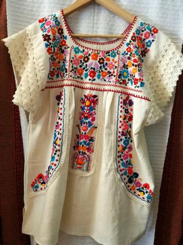 blusa bordada mexicana especial