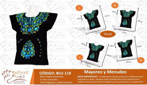 blusa bordada regional mexicana lote 12 piezas