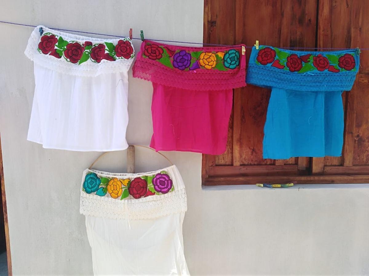 0c75010d56e3e Blusa Bordado Artesanal De Chiapas  Campesinas  Olan -   139.00 en ...