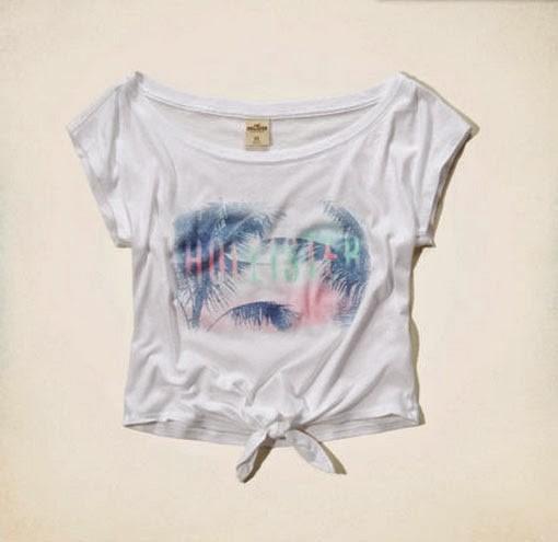 d3a83867009cc Blusa Branca Estampada Hollister (emma Wood T-shirt) Org. - R$ 99,00 ...