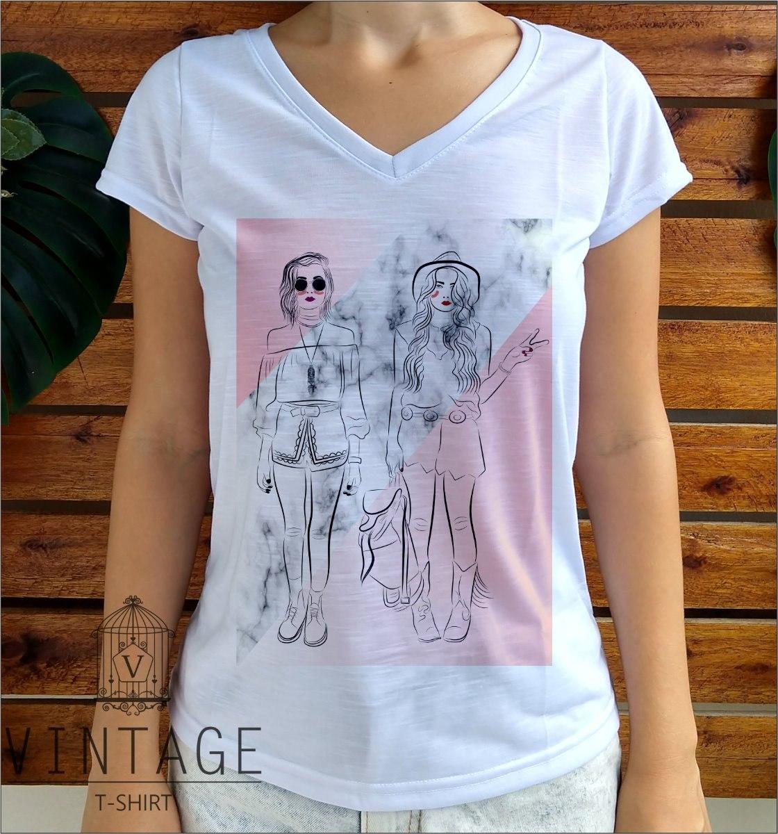 6bd8a159b9 blusa branca t-shirt feminina flame gola v várias estampada. Carregando zoom .