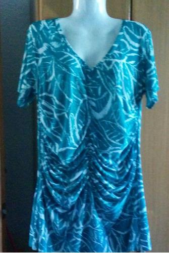 blusa, buzo dama xl en seda fria  con frunces divino!nuevo!!