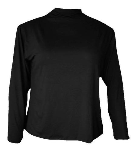 blusa cacharrel manga comprida segunda pele plus size atég4