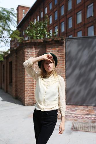 blusa camisa antigua vintage año 1930 en gasa y puntillas