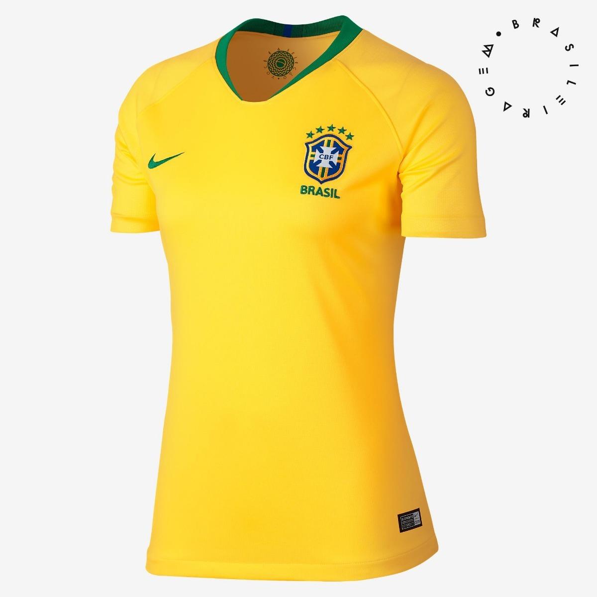 da6670601 blusa camisa camiseta feminina brasil copa do mundo 2018. Carregando zoom.