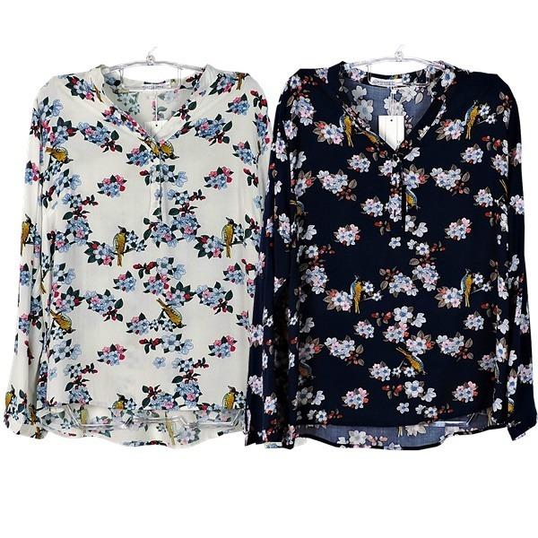 71c5ecdf8d43 Blusa Camisa Camiseta Social Feminina Estampada Manga Longa