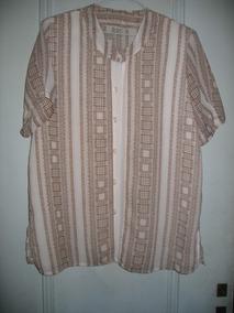 76a37866c Blusa Camisa Elegante Fresca Frente Doble Xl Mangas Cortas