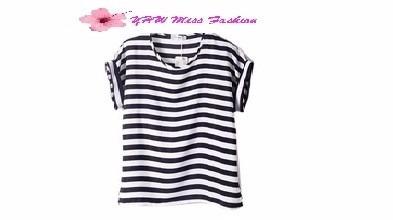 blusa camisa estampa listrada feminina chifon. tam. p, m e g
