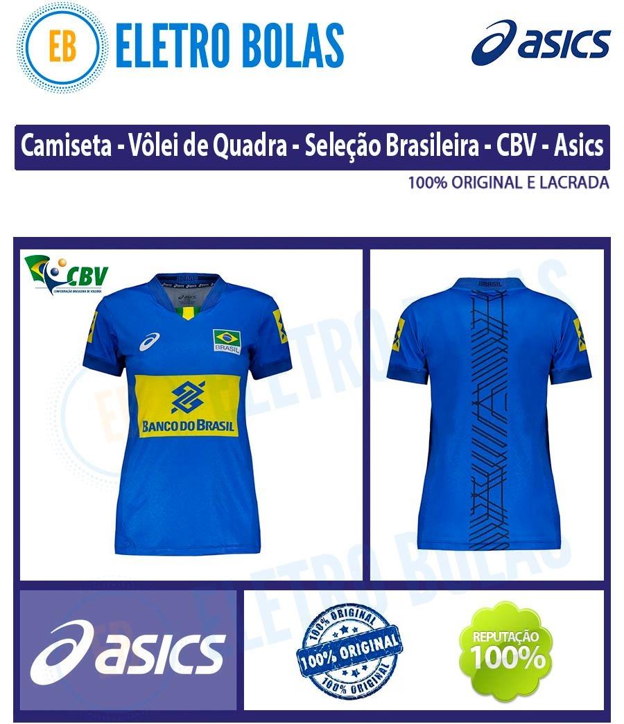 b25708885d Blusa Camisa Fem Vôlei Quadra Seleção Brasileira Cbv - Asics - R ...