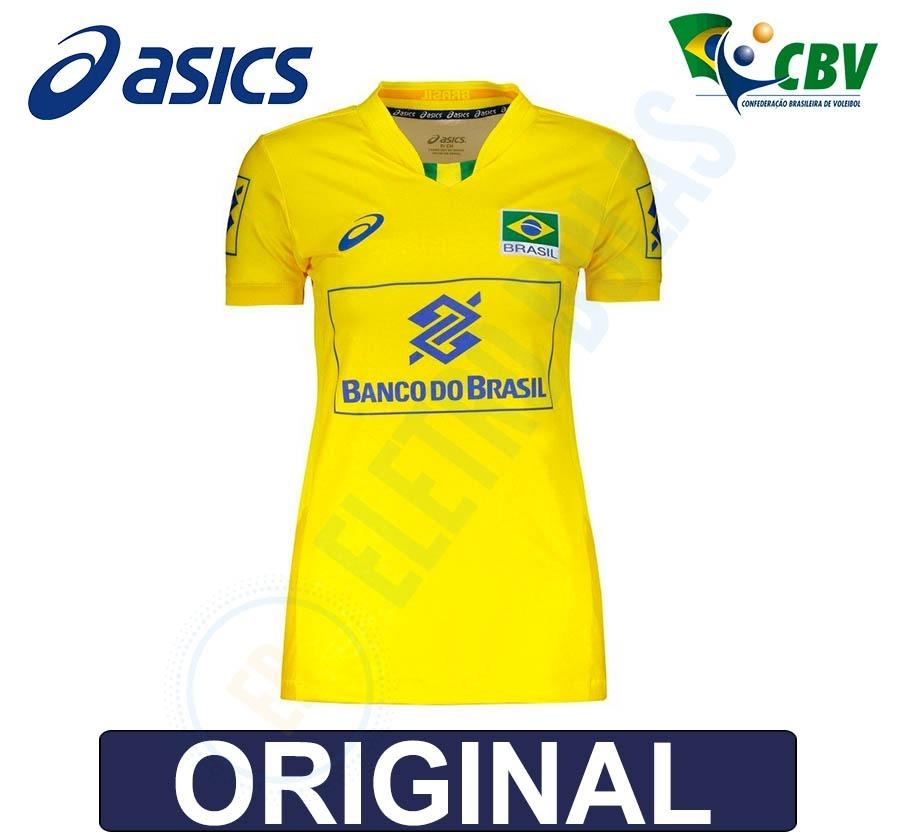 blusa camisa fem vôlei quadra seleção brasileira cbv - asics. Carregando  zoom. 2a43cfcca3797