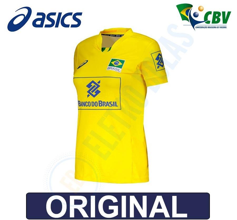 blusa camisa fem vôlei quadra seleção brasileira cbv - asics. Carregando  zoom. 0aed2519a672d