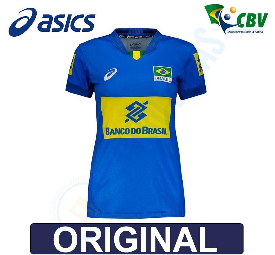 15188f2d29 blusa camisa fem vôlei quadra seleção brasileira cbv - asics. Carregando  zoom.