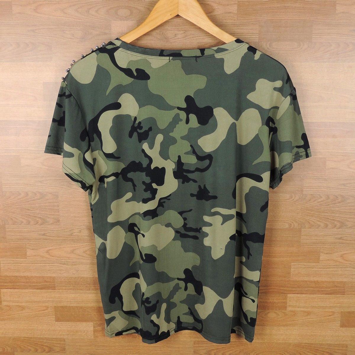 f2ef8e6c2e blusa camisa feminina estampa militar com pedraria. Carregando zoom.