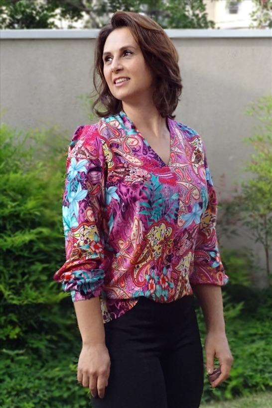 ec9745701c47 Blusa Camisa Feminina Viscose Estampada Floral Social