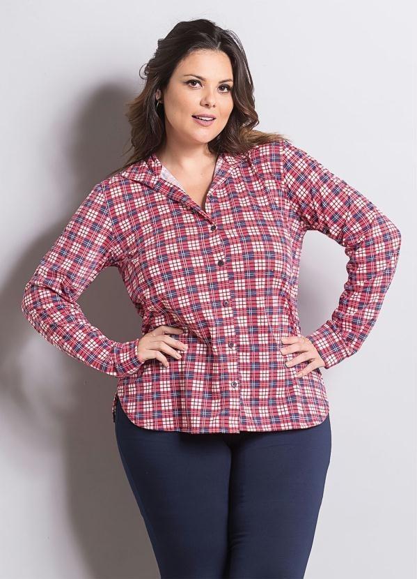 e243620313 blusa camisa feminina xadrez manga longa moda plus size. Carregando zoom.