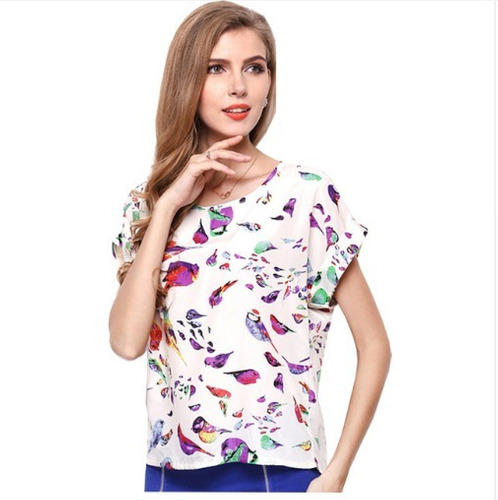 blusa camisa importada  passarinhos pronta entrega p, m , g