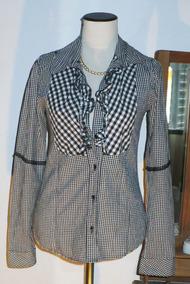 83d282368 Camisa Cuadrille Blanca Y Negra Camisas Chombas Blusas - Ropa y ...