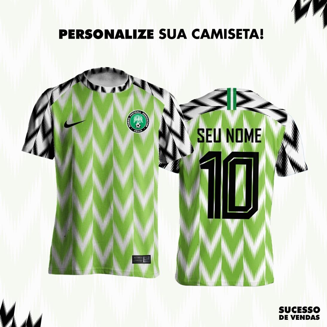 6969965829 blusa camisa nigéria personalizada copa do mundo 2018 verde. Carregando  zoom.