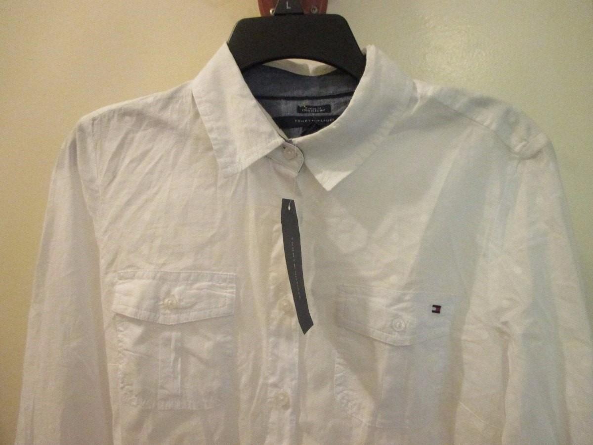 96bd3b80e6c blusa camisa para dama marca tommy hilfiger talla m. Cargando zoom.