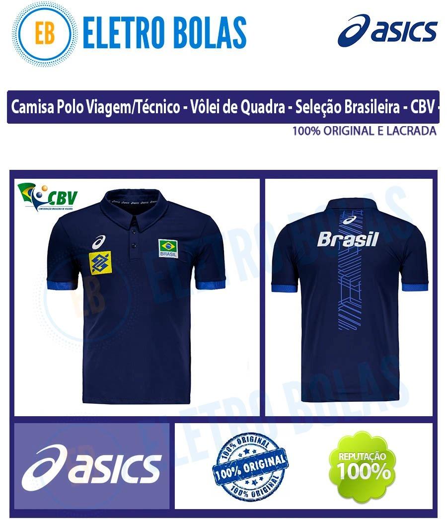 48d3688004 blusa camisa polo vôlei seleção brasileira cbv oficial asics. Carregando  zoom.