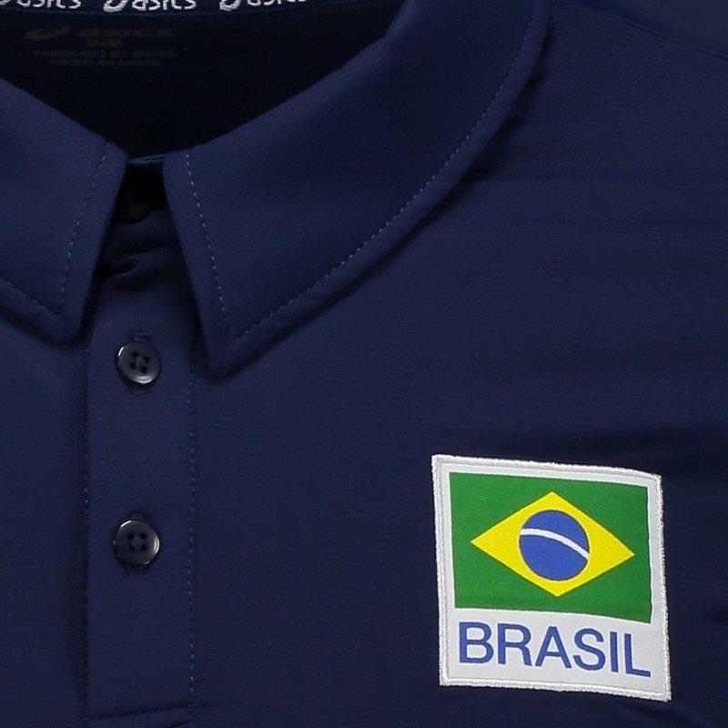 blusa camisa polo vôlei seleção brasileira cbv oficial asics. Carregando  zoom. 3ebb43c3ffc16