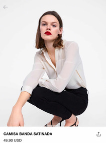 1f9737088 Camisa Blanca Bordada Zara - Blusas de Mujer XS en Mercado Libre ...