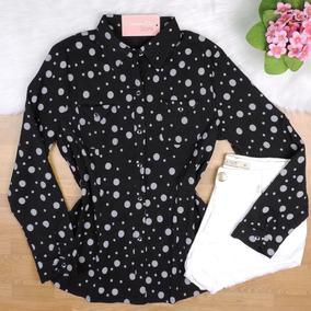 e4974ce809 Blusa Branca De Bolinha Preta Gg - Calçados