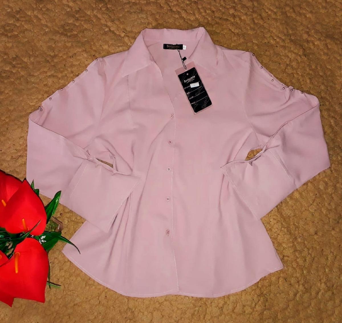 e549d4d0e blusa camisa social feminino manga longa moda evangelica. Carregando zoom.