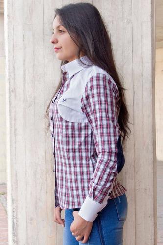 blusa camisera en cuadros leñadores
