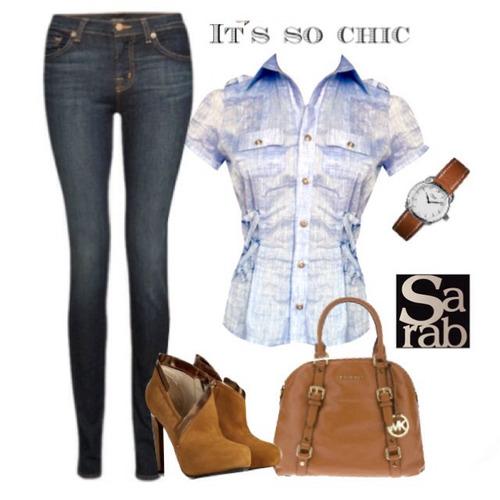 blusa camisera manga corta- azul claro/sarab fashion shop