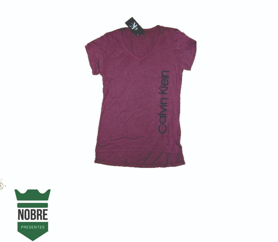 af4c854639 blusa camiseta calvin klein feminino gola v. Carregando zoom.