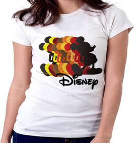 e92af0242 Blusa Camiseta Feminina Baby Look Disney Mickey Copias Taman