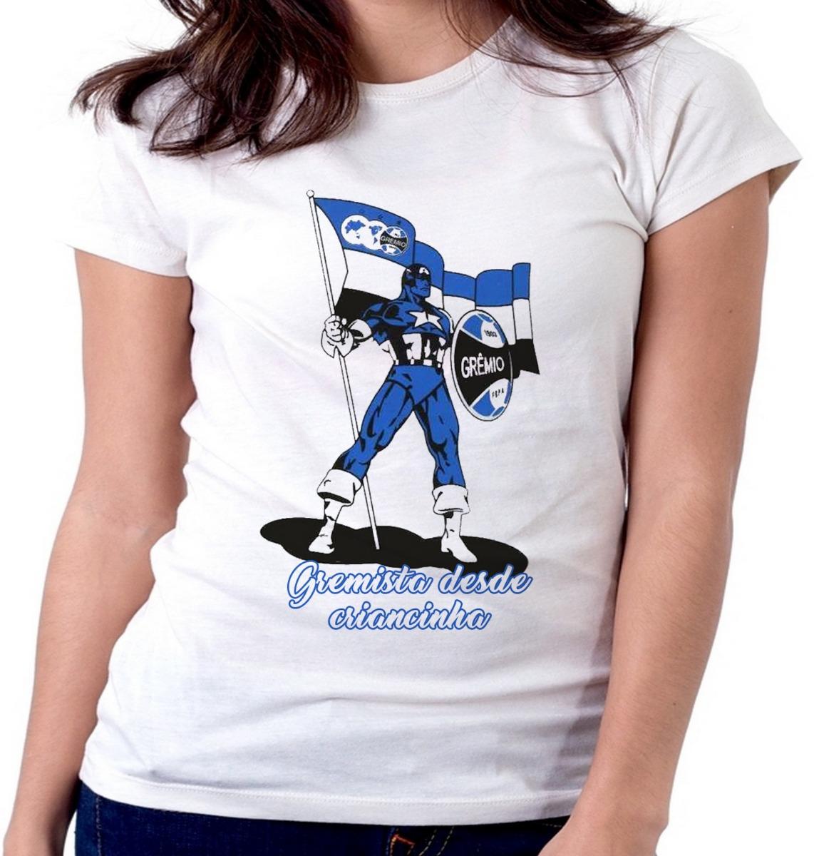 blusa camiseta feminina baby look gremista gremio torcida. Carregando zoom. d6ca506b91040