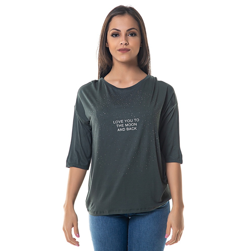 58d3d5114 Blusa Camiseta Feminina Lez A Lez Manga Curta Verde - R$ 139,00 em ...