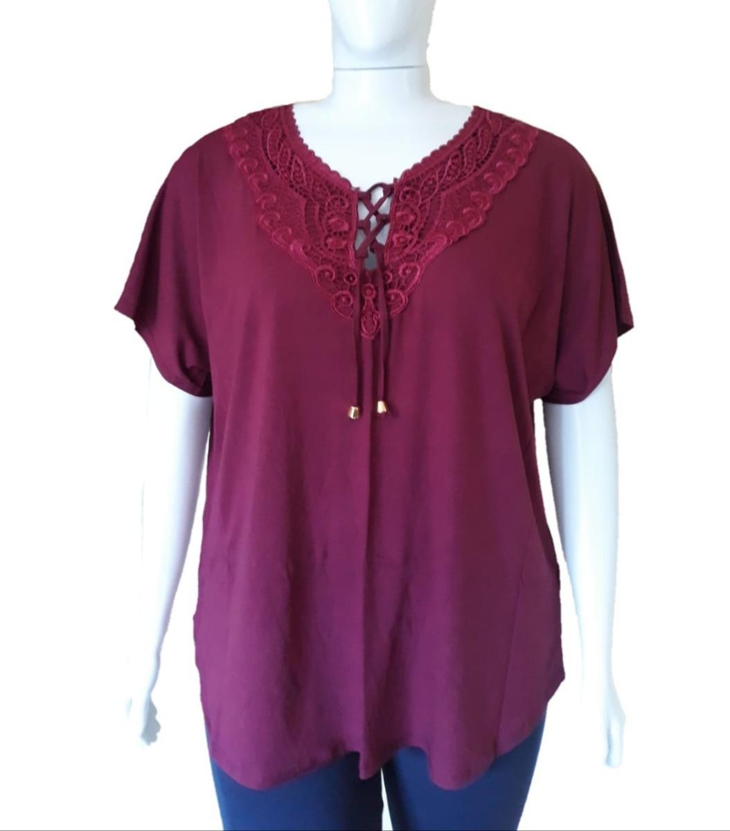 589e723f7a blusa camiseta feminina plus size grande veste 54 ao 60. Carregando zoom.