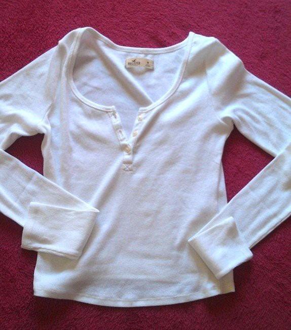 Blusa Camiseta Malha Manga Longa Hollister Feminina Original - R  99 ... d583e143dea2c
