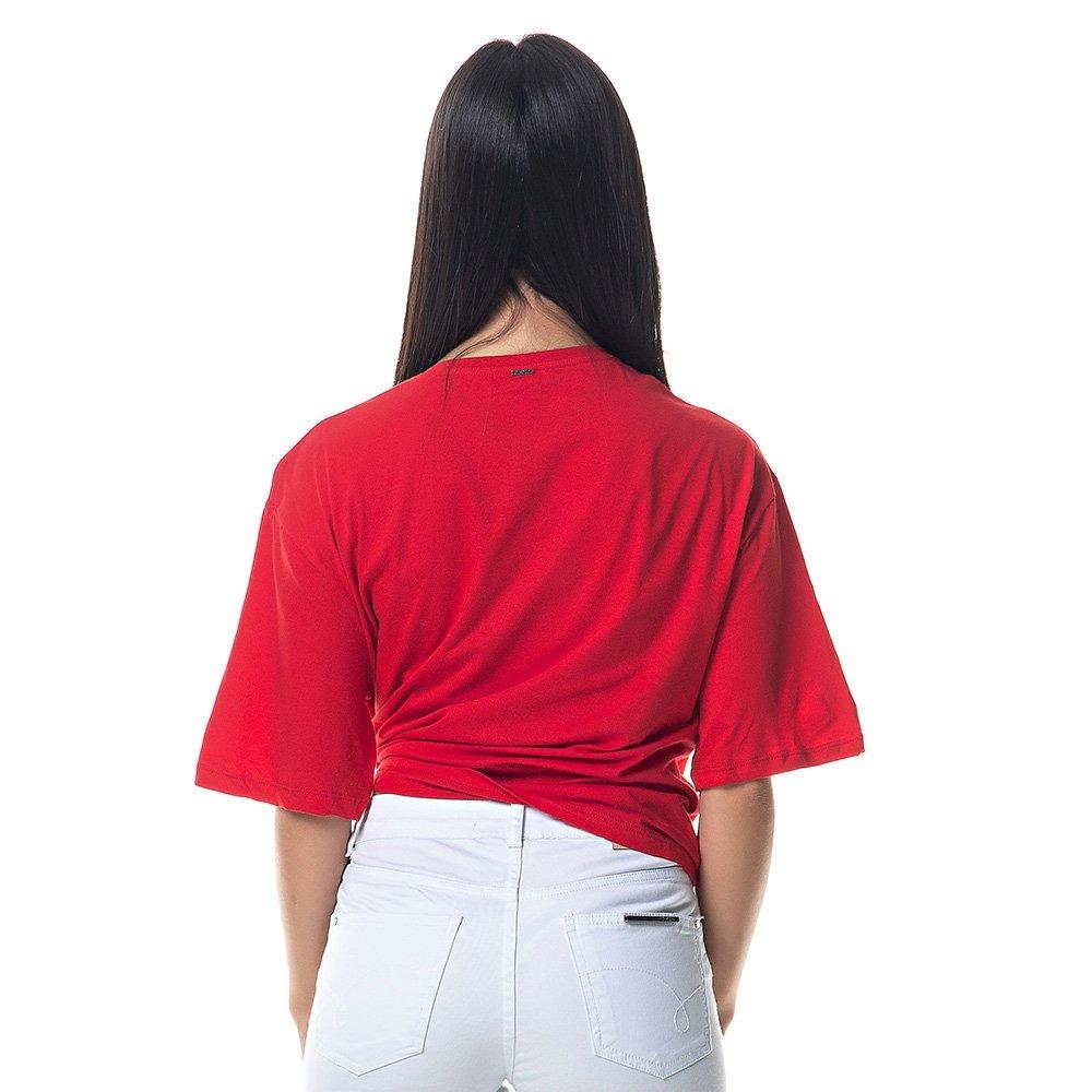 Blusa Camiseta Feminina Lez A Lez Manga Curta Vermelha - R  99 df79781888f