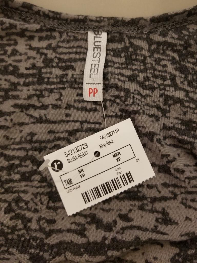 d3b9c142e9 blusa camiseta regata feminina cinza preta bordada metal pp. Carregando  zoom.
