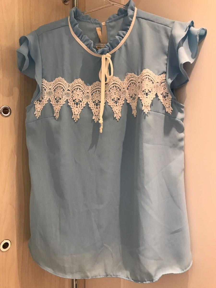 8fc9a118eb blusa camisete social com babado manga curta pronta entrega. Carregando  zoom.