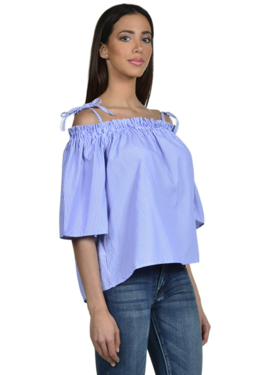 52372ffe7 Blusa Campesina De Mujer Exotik Ef173-1102-622 Azul - $ 28.990 en ...