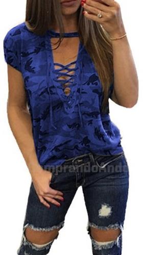 blusa camuflaje militar dama