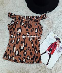 ae09adf9f Blusa Oncinha Onça Animal Print - Calçados, Roupas e Bolsas no Mercado  Livre Brasil