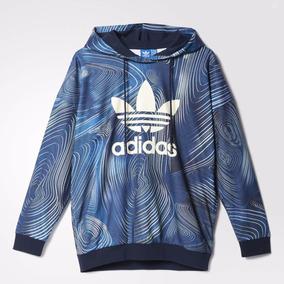 099d9e346f9 Blusa Capuz Oversize Blue Geology adidas Originals Dom