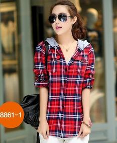 6d7d9af849e Camisa Xadrez Flanela Capuz Feminina - Calçados, Roupas e Bolsas com o  Melhores Preços no Mercado Livre Brasil