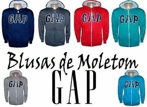 blusa casaco frio moletom masculina gap ziper aberto top