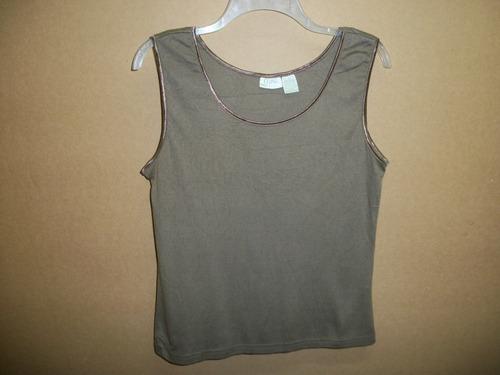 blusa casual de algodon erika  talla l-36 sizada.