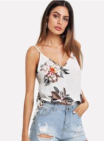 sin impuesto de venta gama completa de artículos disfruta el precio de liquidación Blusa Casual De Flores De Tirantes Color Blanca A20