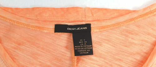blusa casual dkny naranja - fashionella - s t9y5