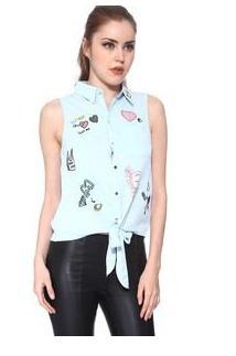 blusa celeste bordados h&m 21 envio gratis